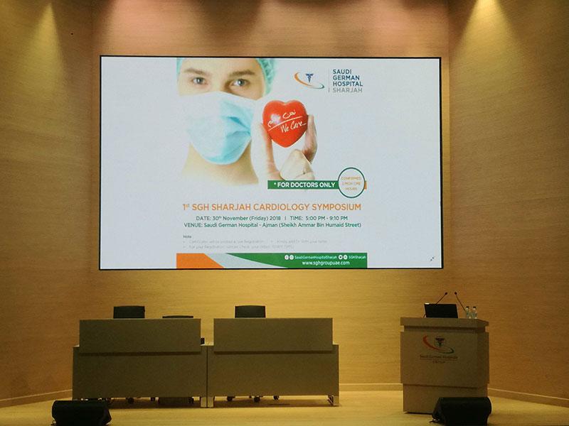 Saudi German Hospital Ajman  | Auditorium Audio Video Solutions | Oasis Enterprises