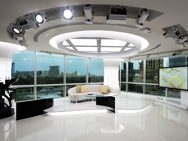 Al Arabiya News Channel, Dubai | ETC Lighting Dimming Control System for Broadcast Studio | Oasis Enterprises