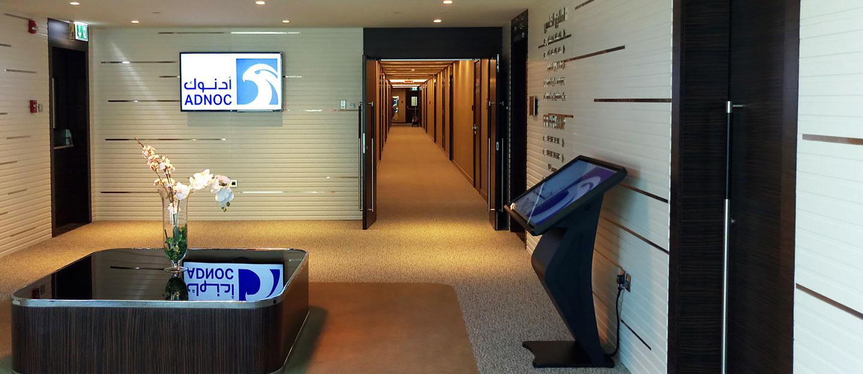 ADNOC | Pro AV installation | Digital Signage System | Oasis Enterprises