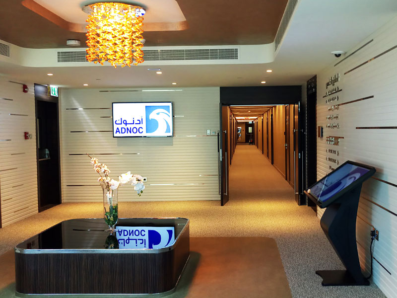 ADNOC Guest House Ruwais | Pro AV installation | Digital Signage System | Oasis Enterprises